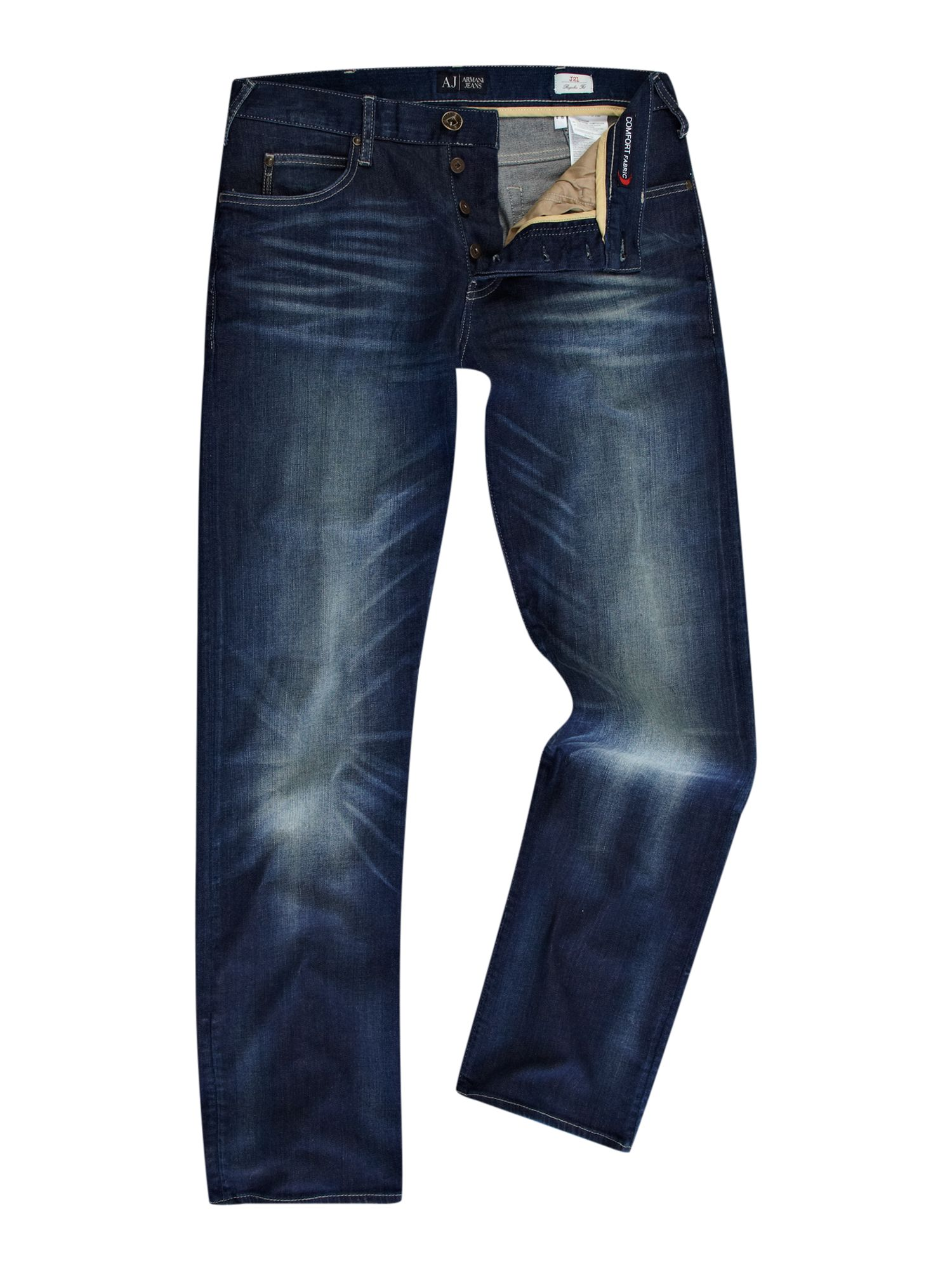 J21 regular fit heavy wash jeans