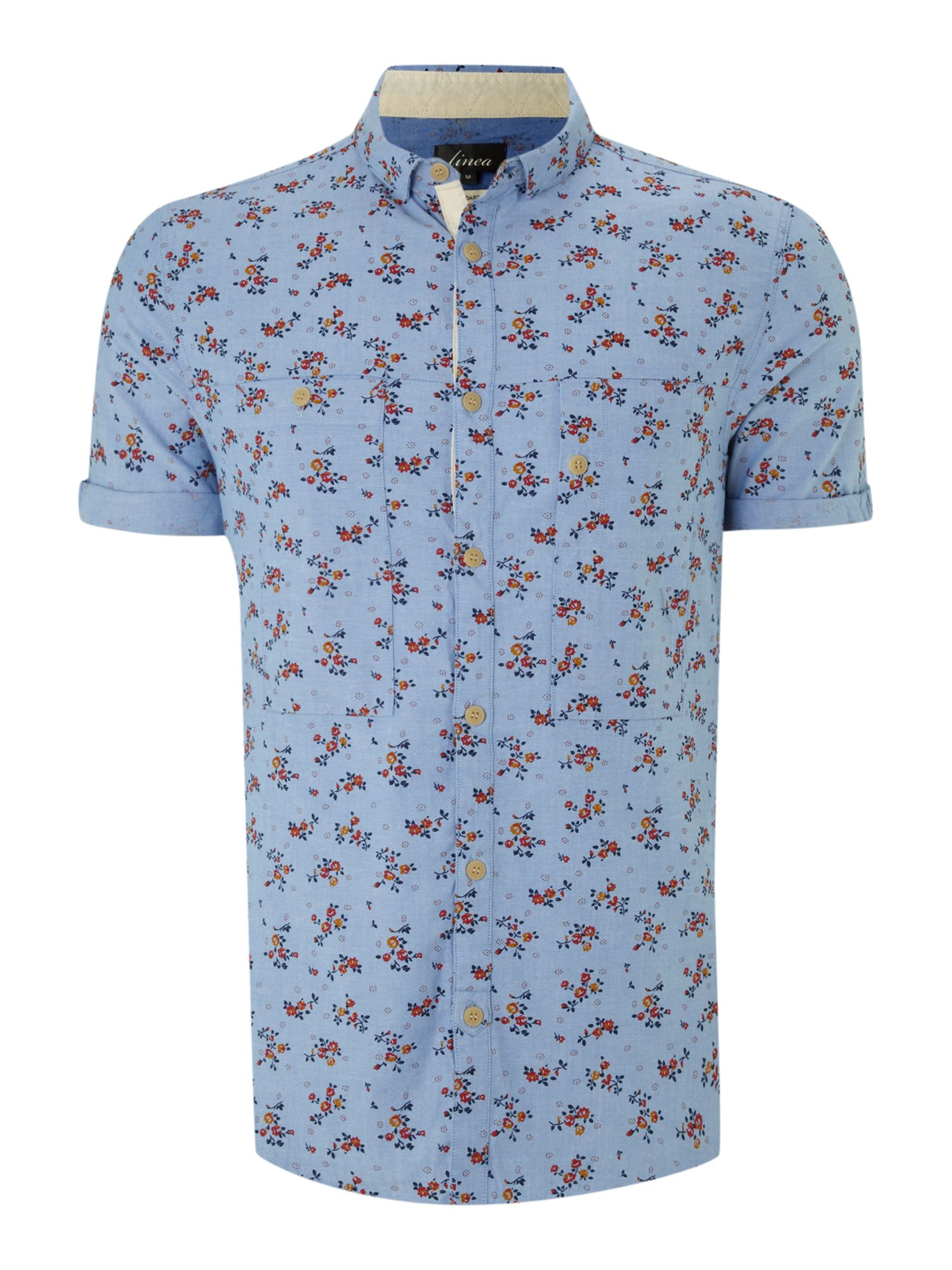 floral print oxford ss shirt
