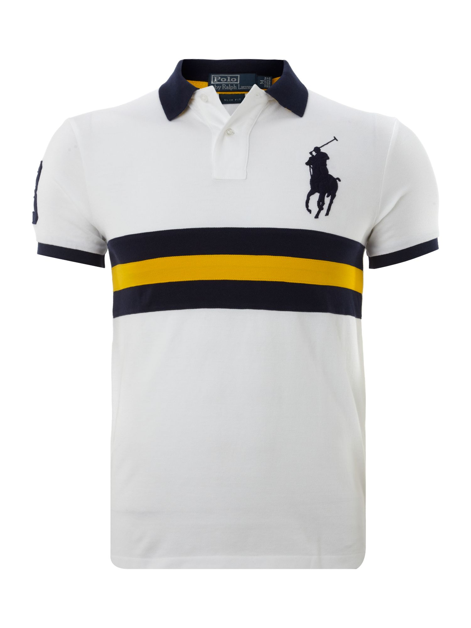 Slim fitted big pony player polo shirt