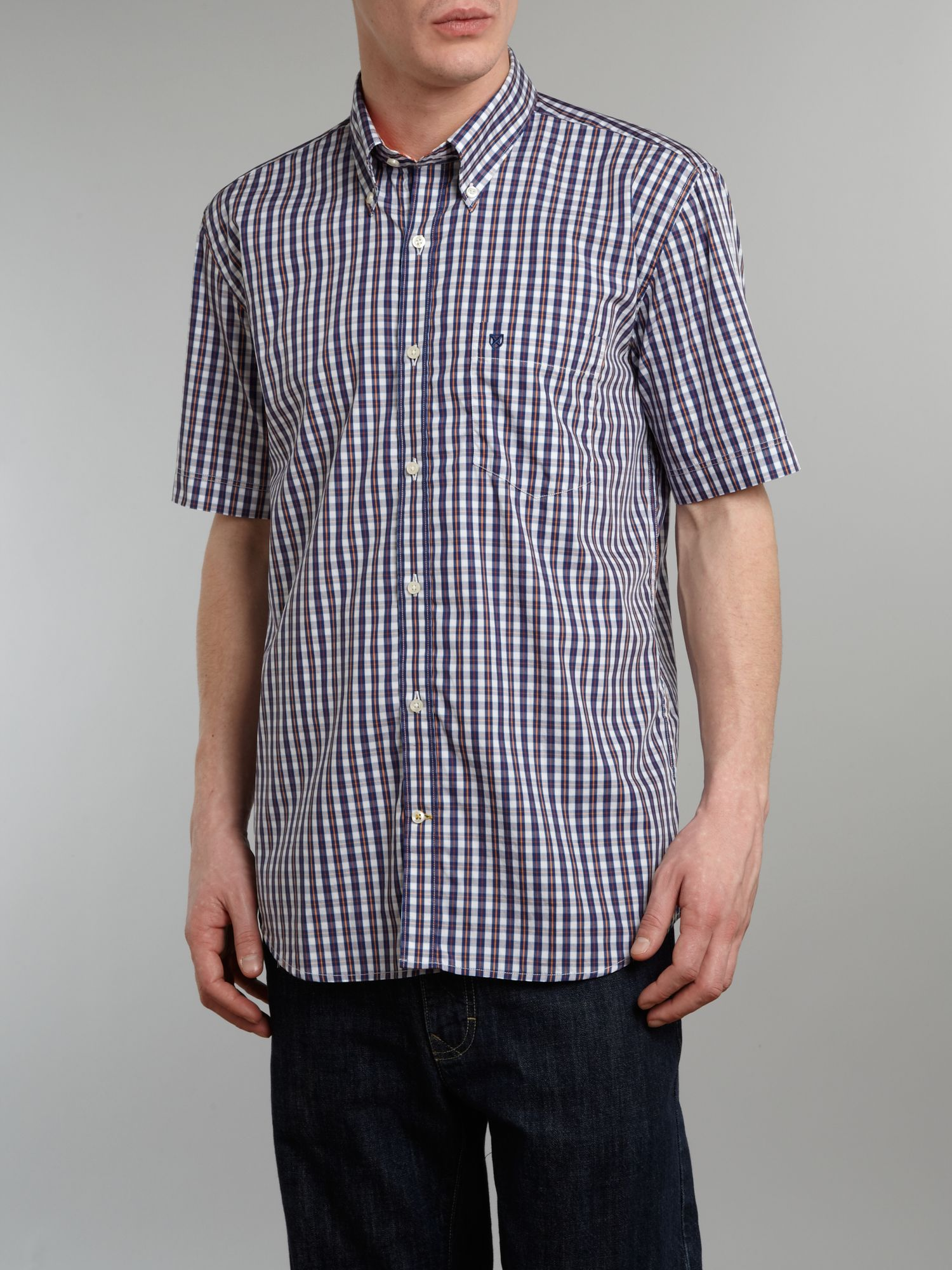 Short sleeve braystone check shirt