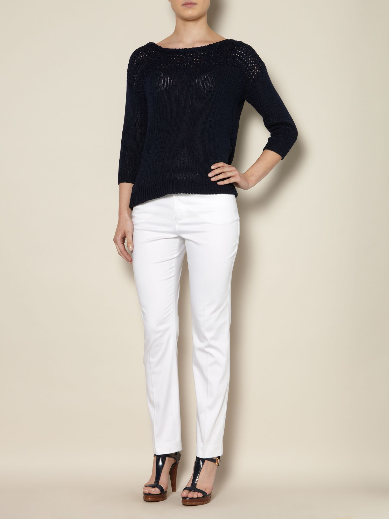 Slim leg ankle trousers
