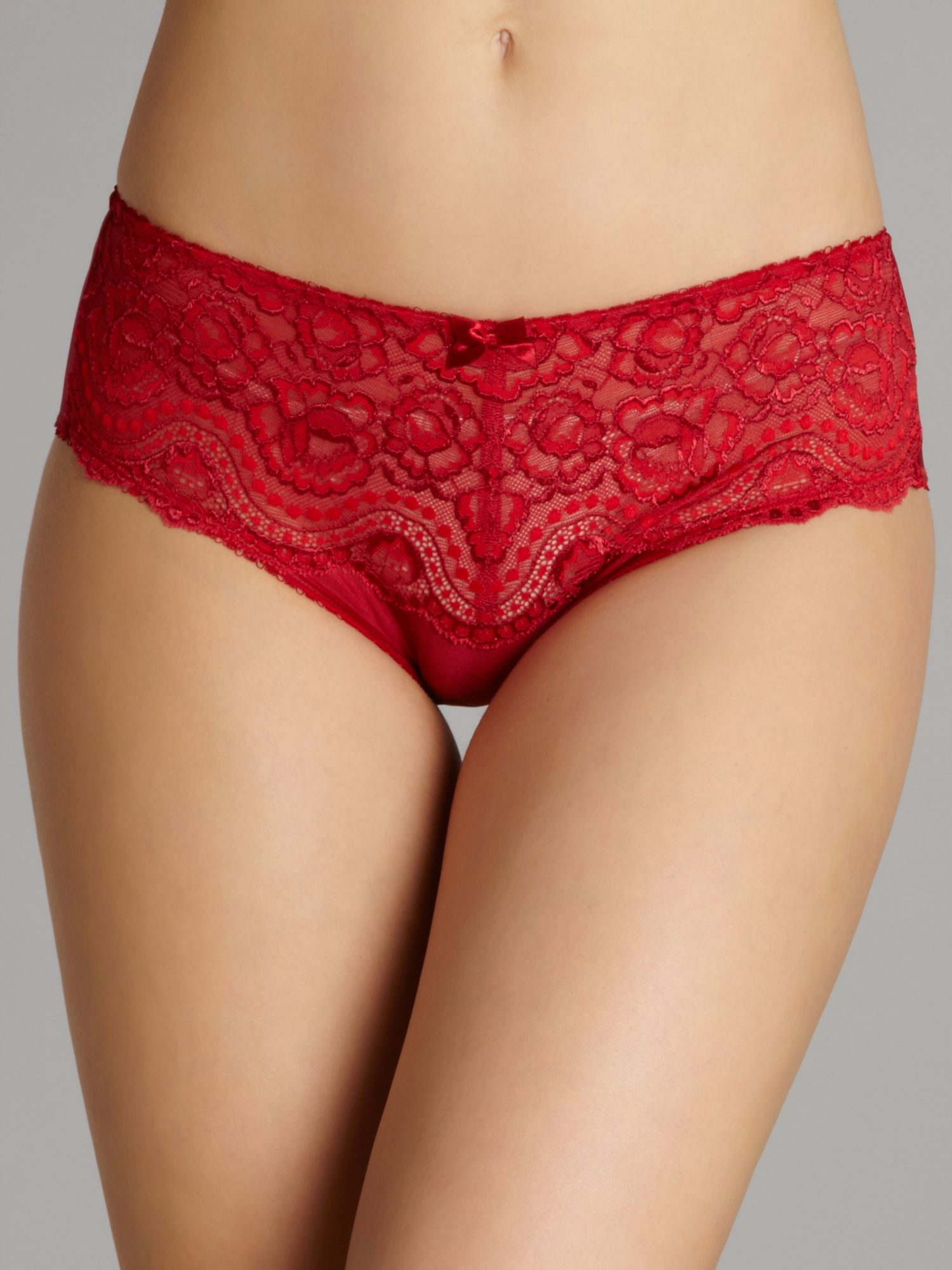 Flower lace brief