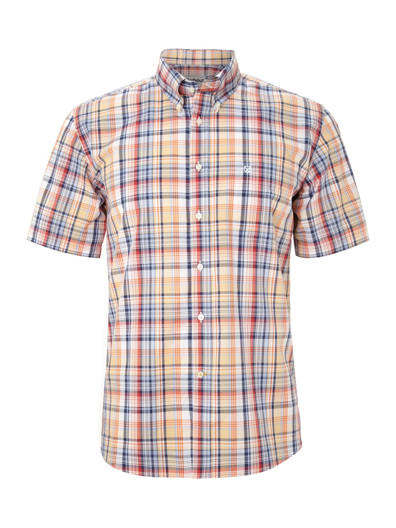 Short sleeve haltcliff check shirt