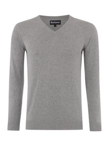 Barbour V-neck pima cotton jumper