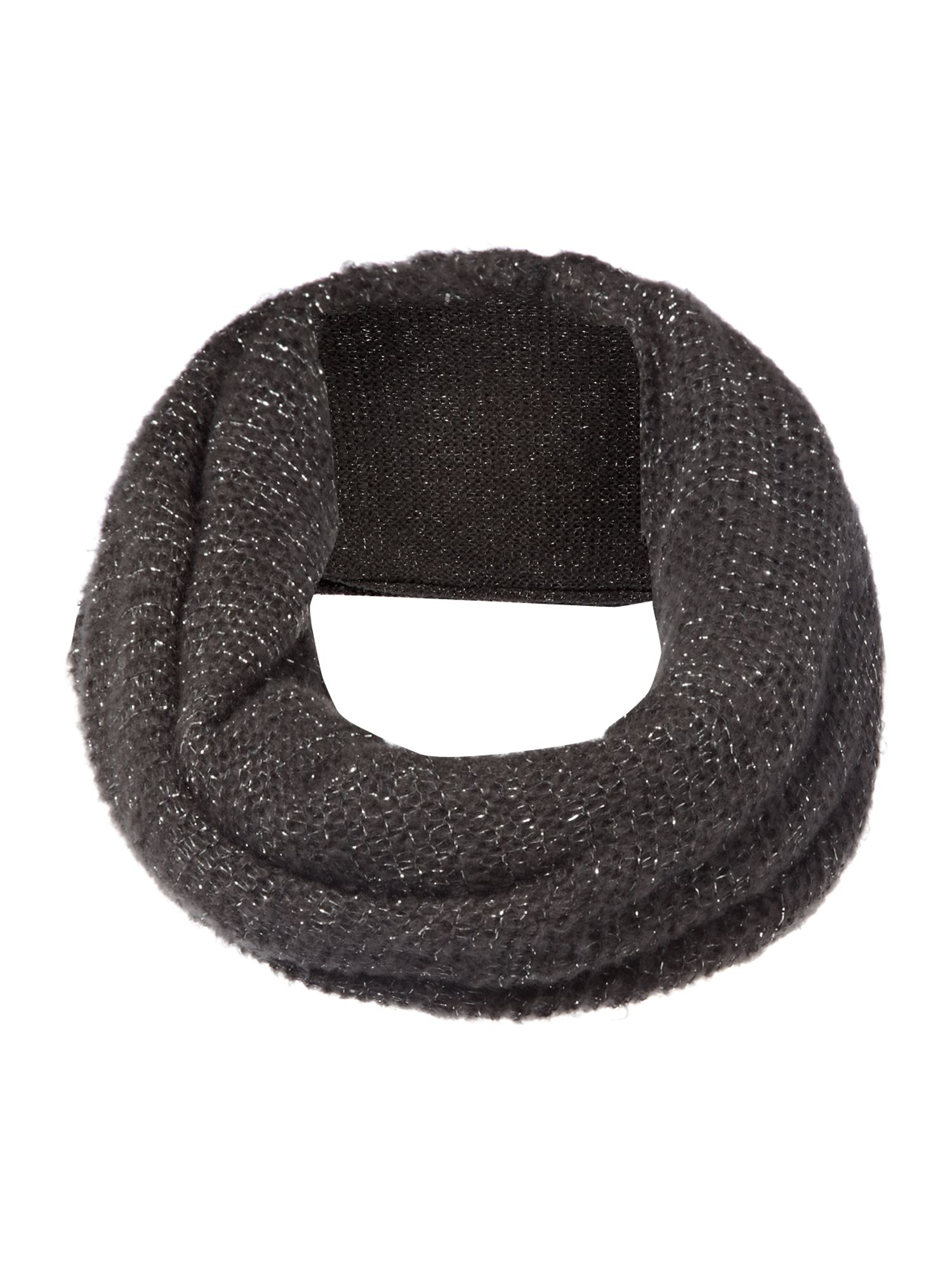 Knitted lurex snood