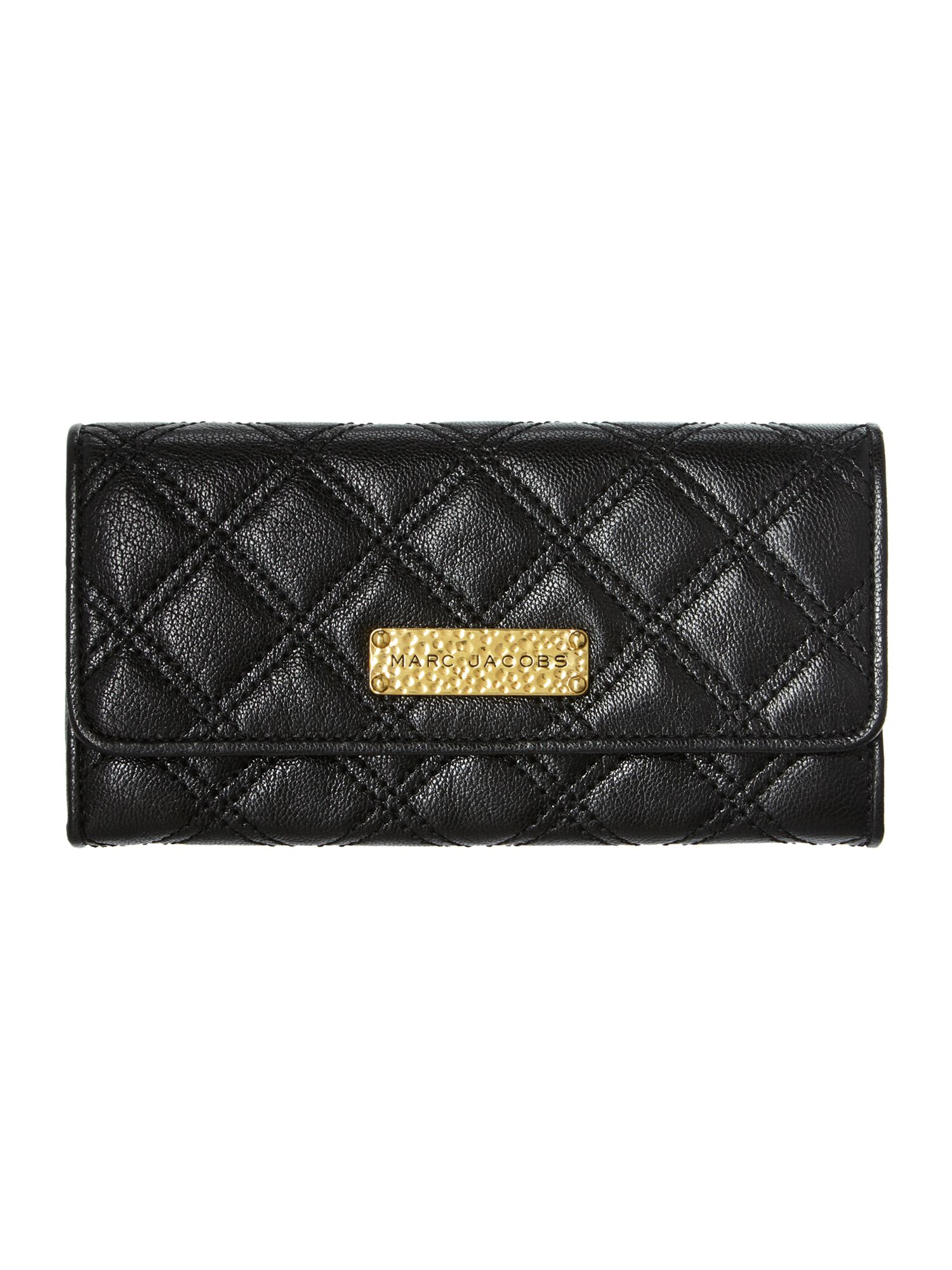 Iconic quilted large flapover purse