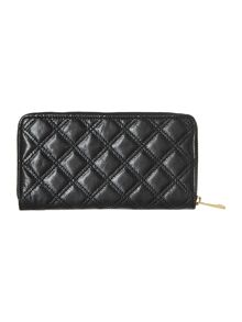 Iconic quilted large ziparound purse