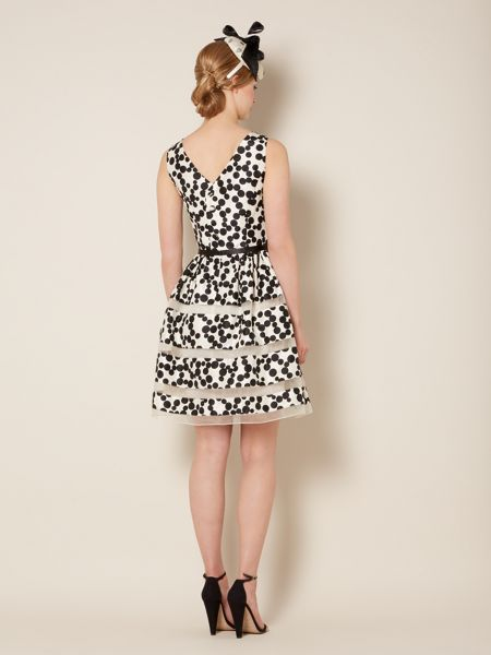 Untold Polka dot fit and flare dress
