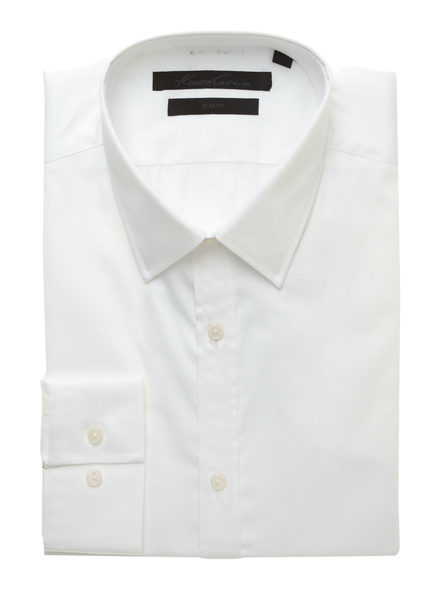 Double cuff poplin shirt with paisley trim