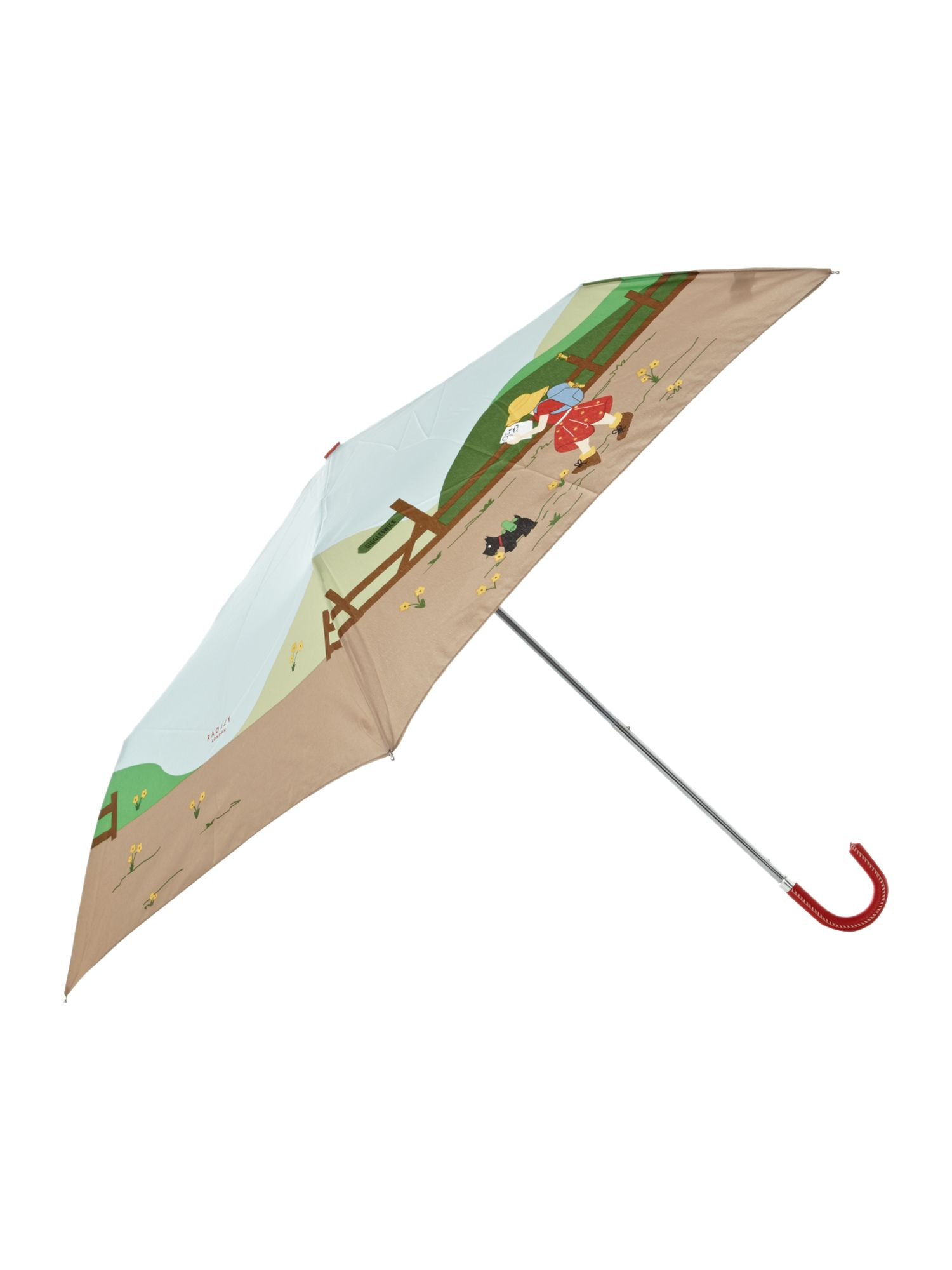 Print mini crook umbrella