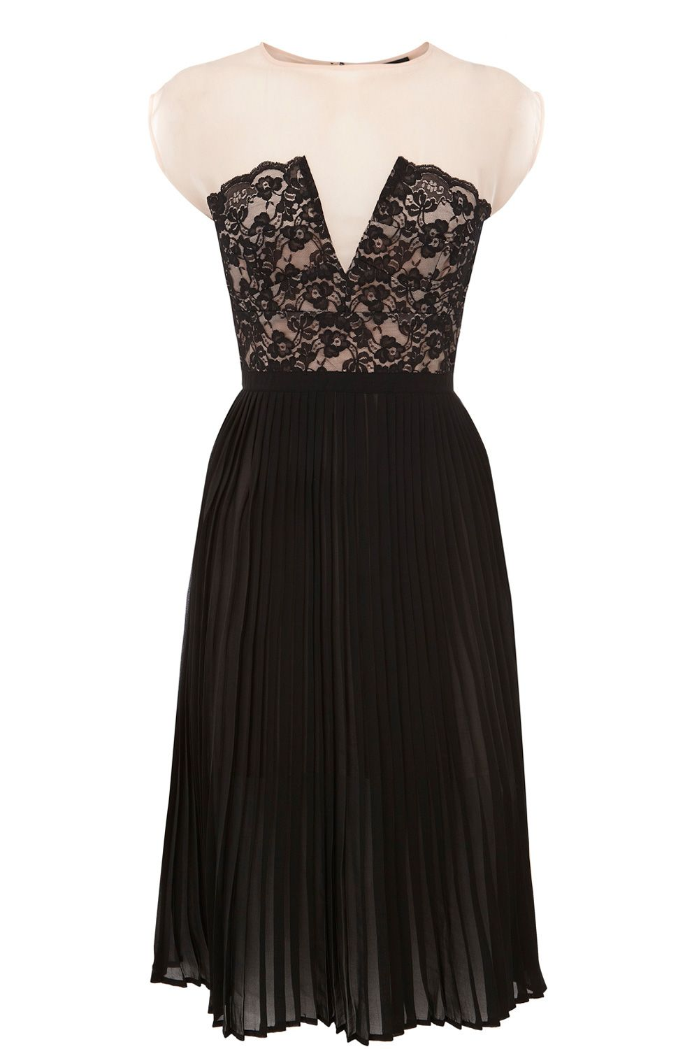 Lace panelled midi dress