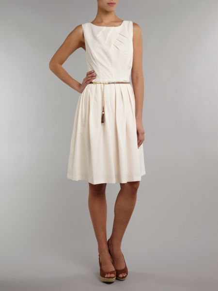 Ellen Tracy 50s style dress with studded belt