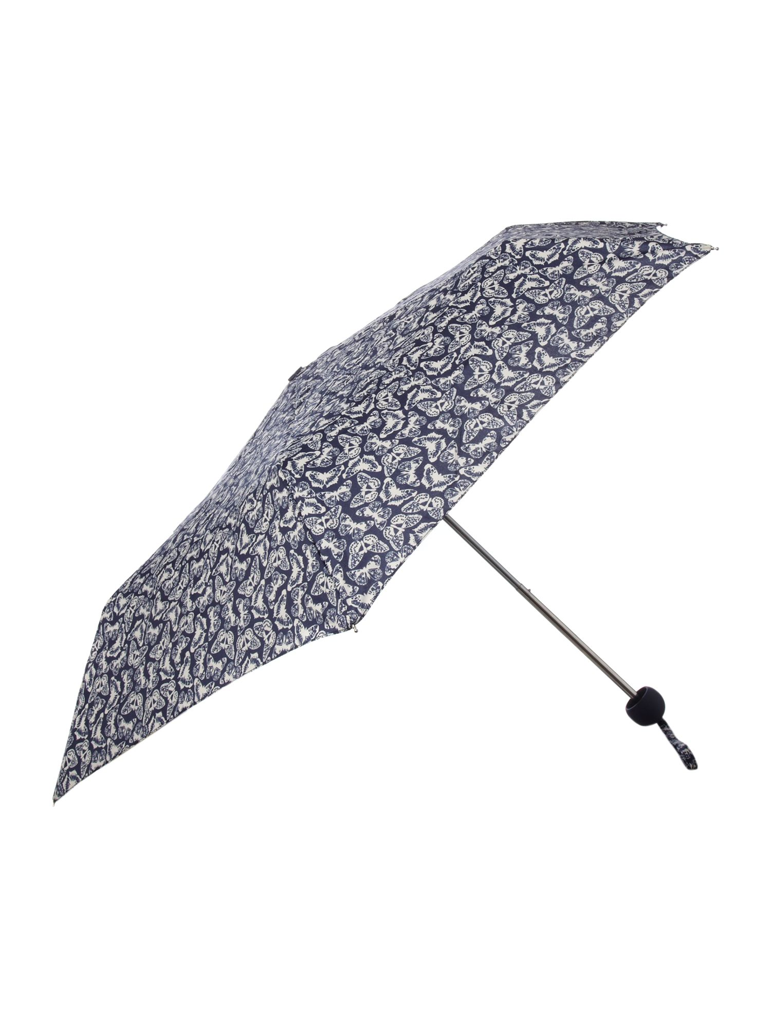 Butterfly print compact umbrella