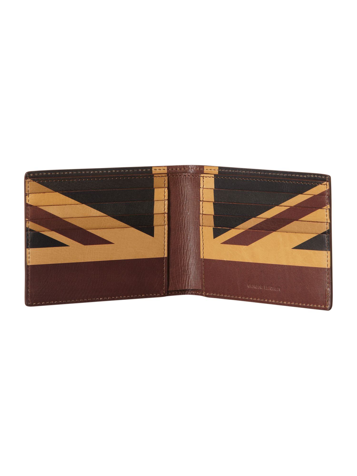 Union jack billfold wallet