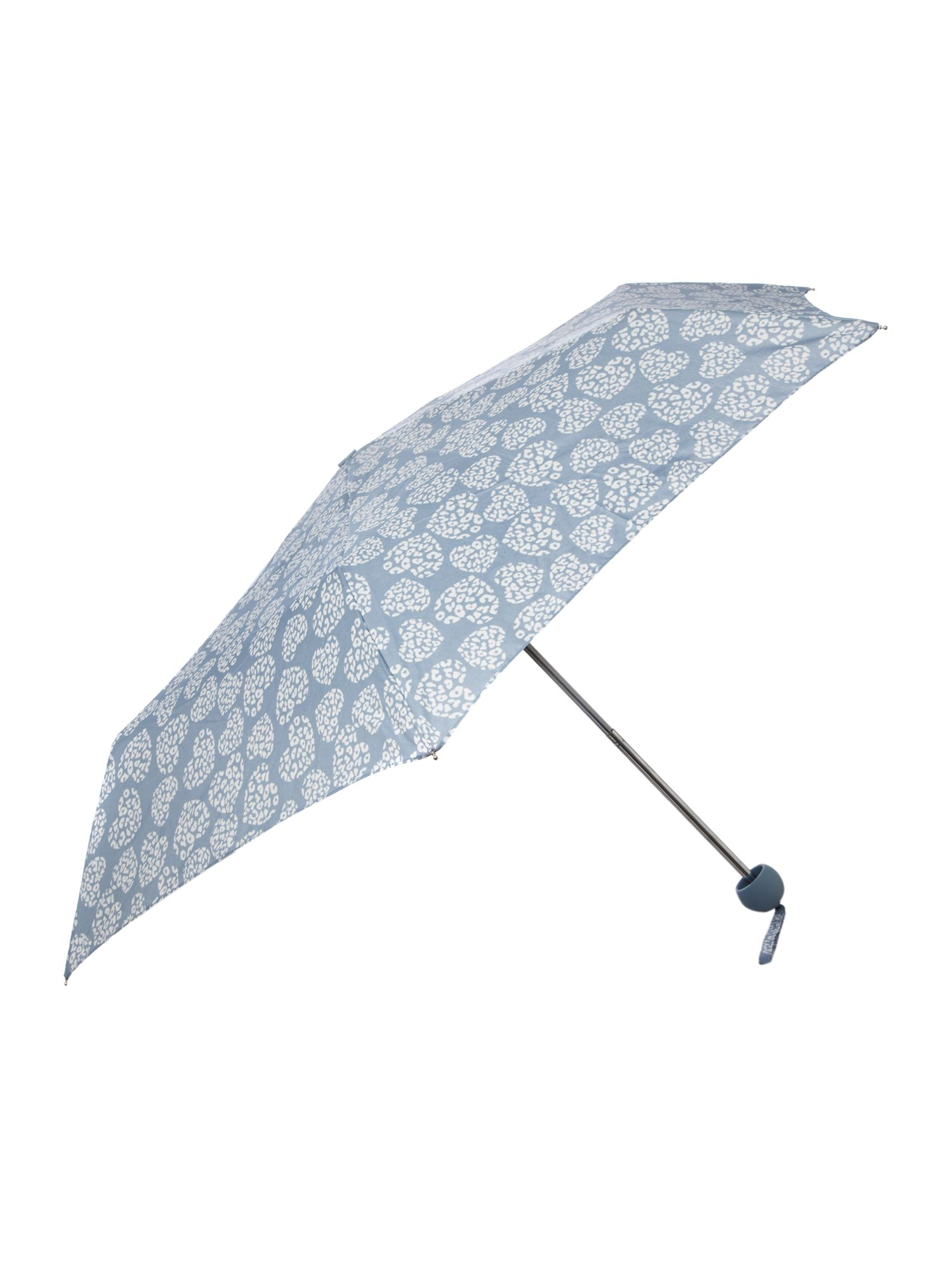 Leopard heart compact umbrella