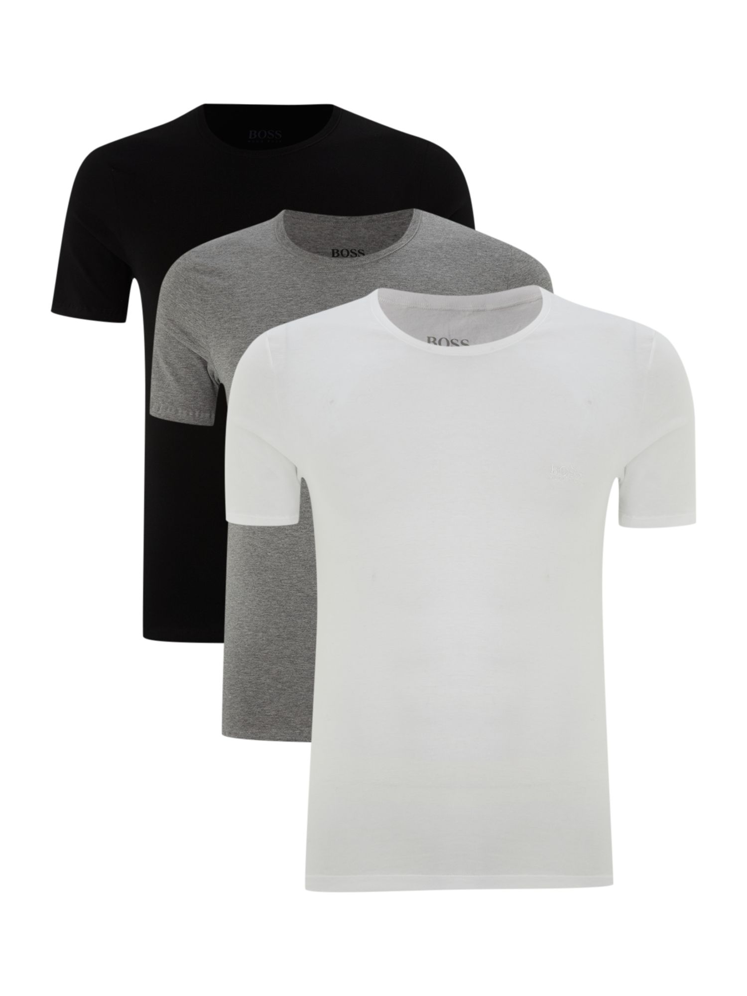 3 pack short sleeve crew neck t-shirt