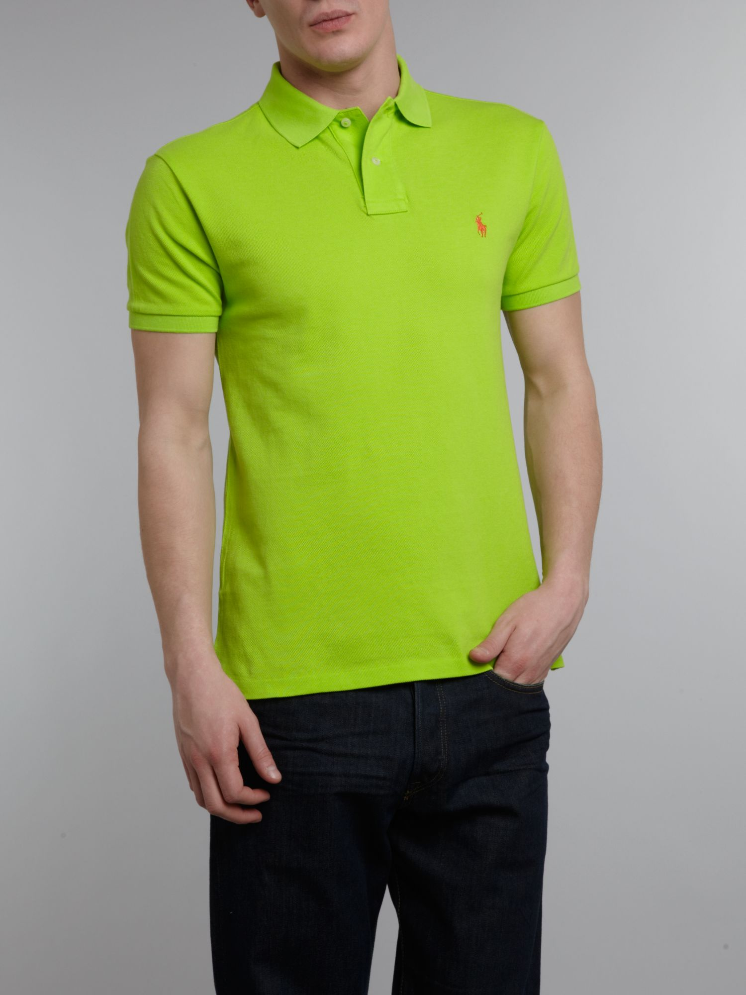 Classic slim fitted polo shirt