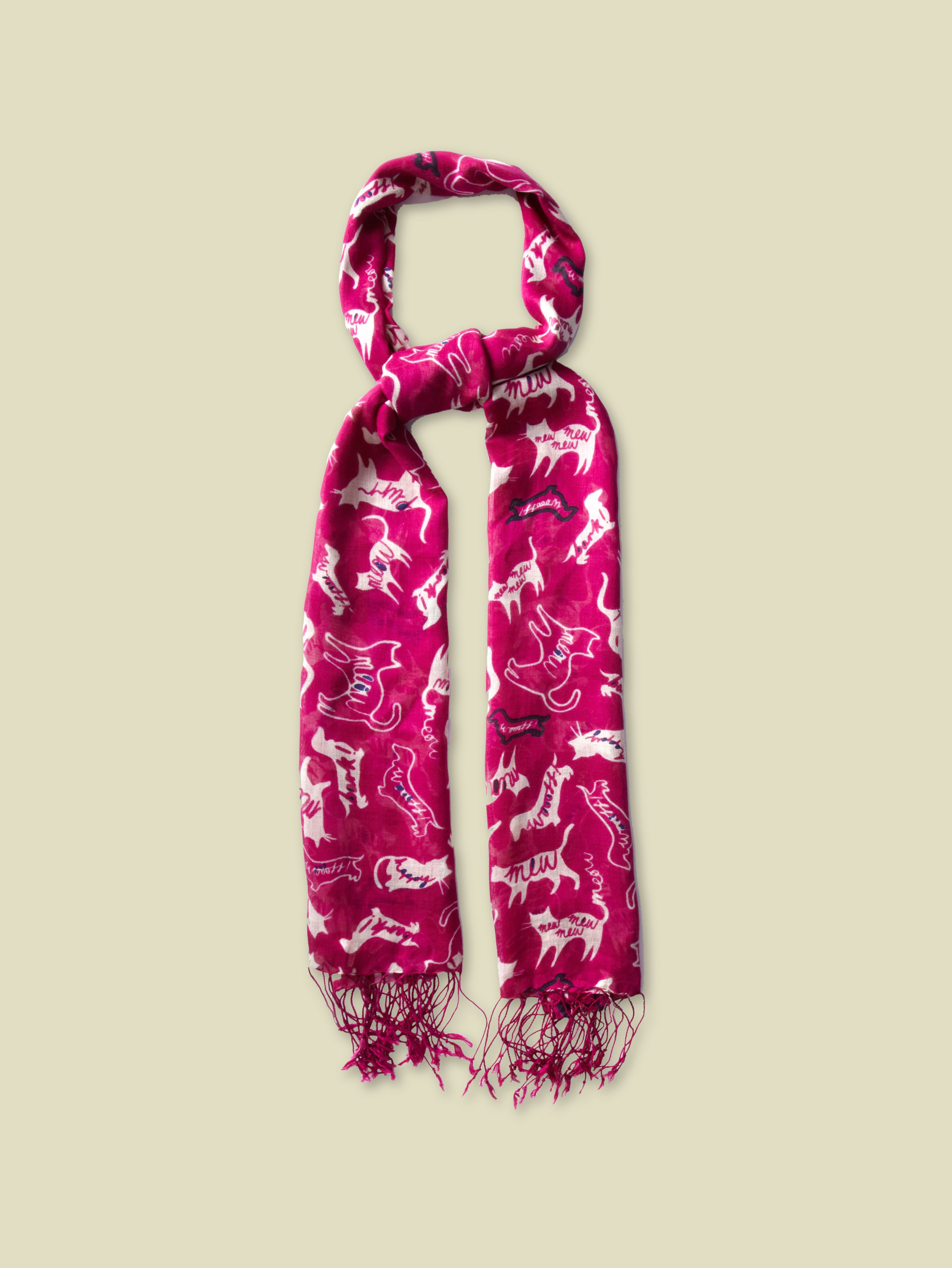 Raining cats and dogs scarf