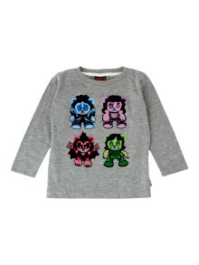 Boy`s rockstar bears graphic T-shirt