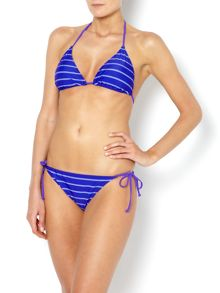 Dickins & Jones Skinny stripe triangle bikini top
