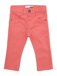 Girl`s slim fit twill trousers