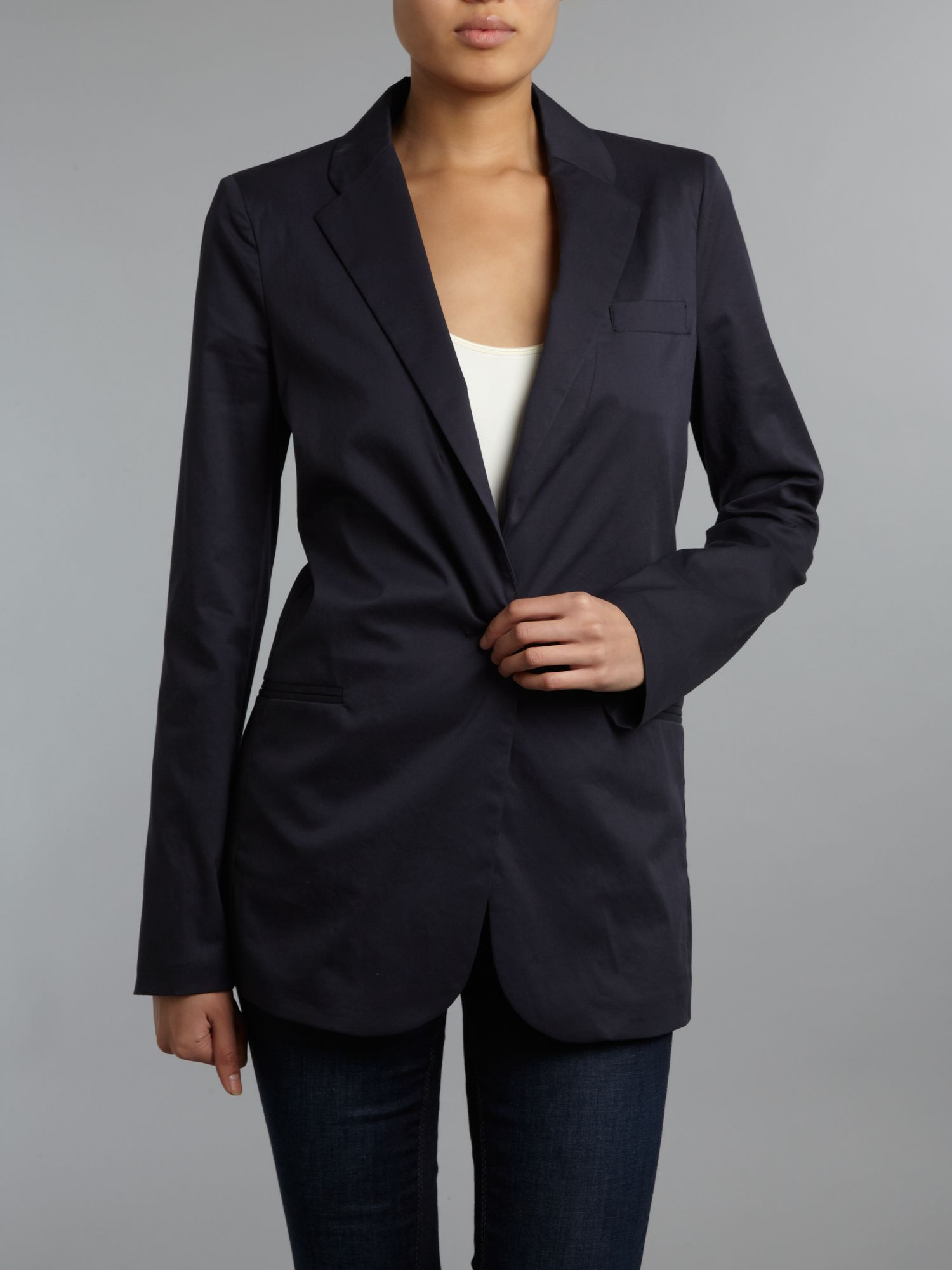 Long sleeved single breasted blazer