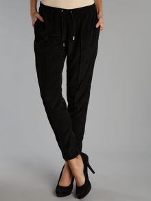 Tie waist jogger style trousers