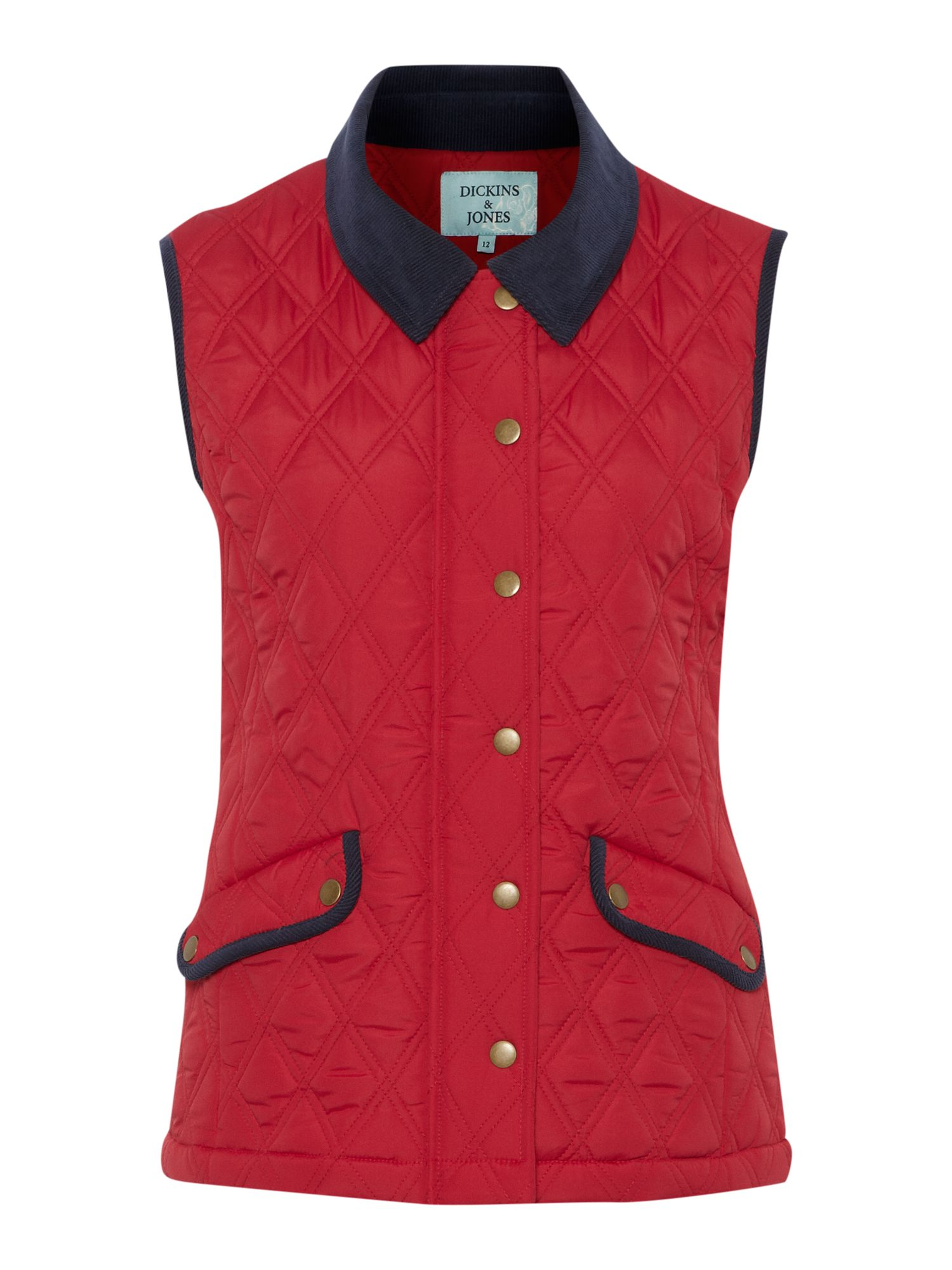 Ladies quilted gilet jacket
