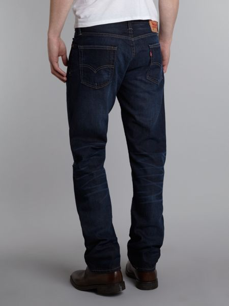 Levi's 504 straight fit distressed look jeans