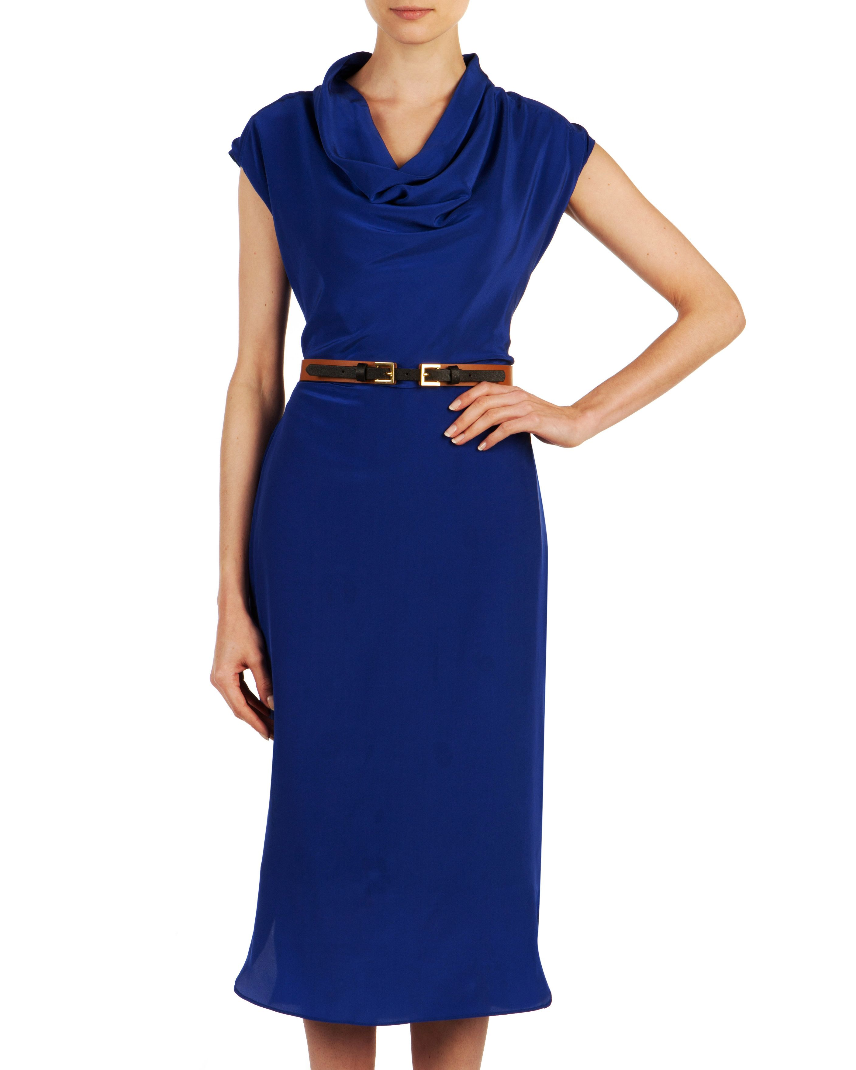 Ispre cowl neck dress