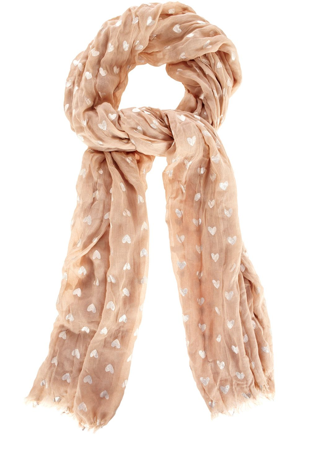 Metallic heart scarf