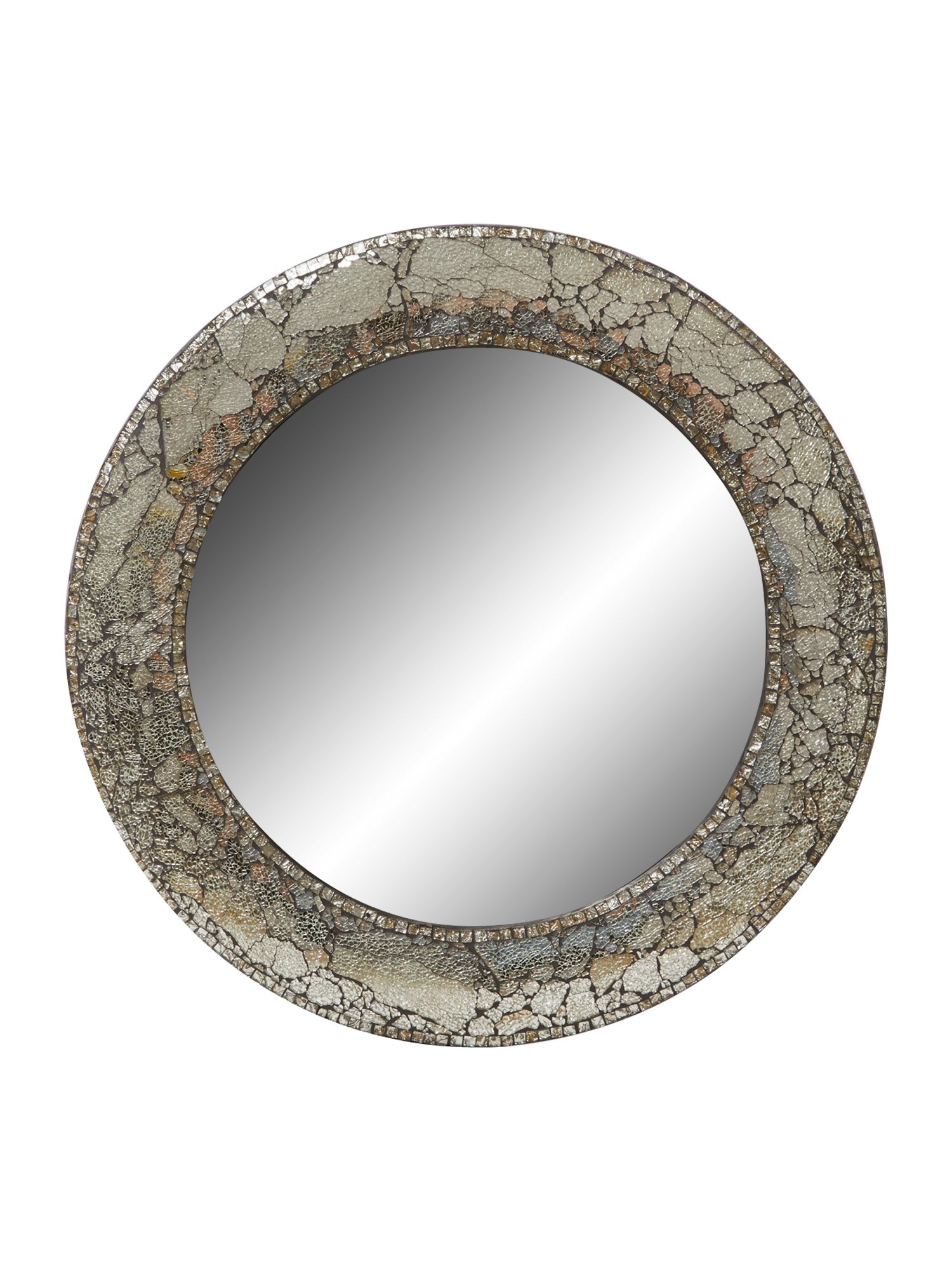 Black round mosaic mirror