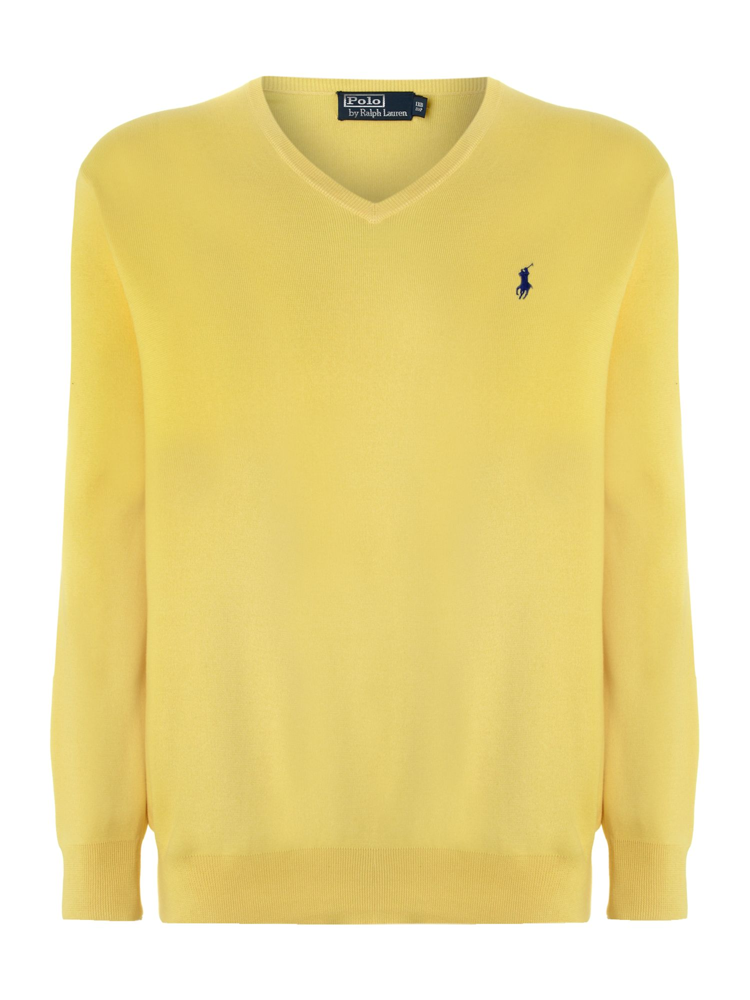 Big and tall classic V-neck jumper