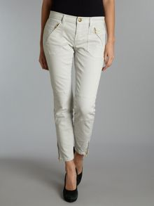 The Stiletto Skinny moto jeans in Stone
