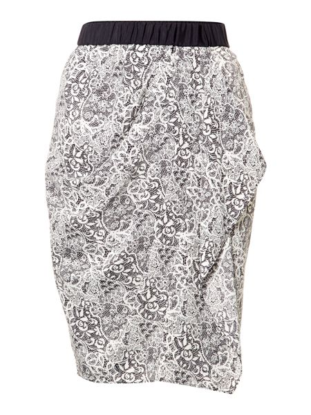 Linea Lace print wrap skirt