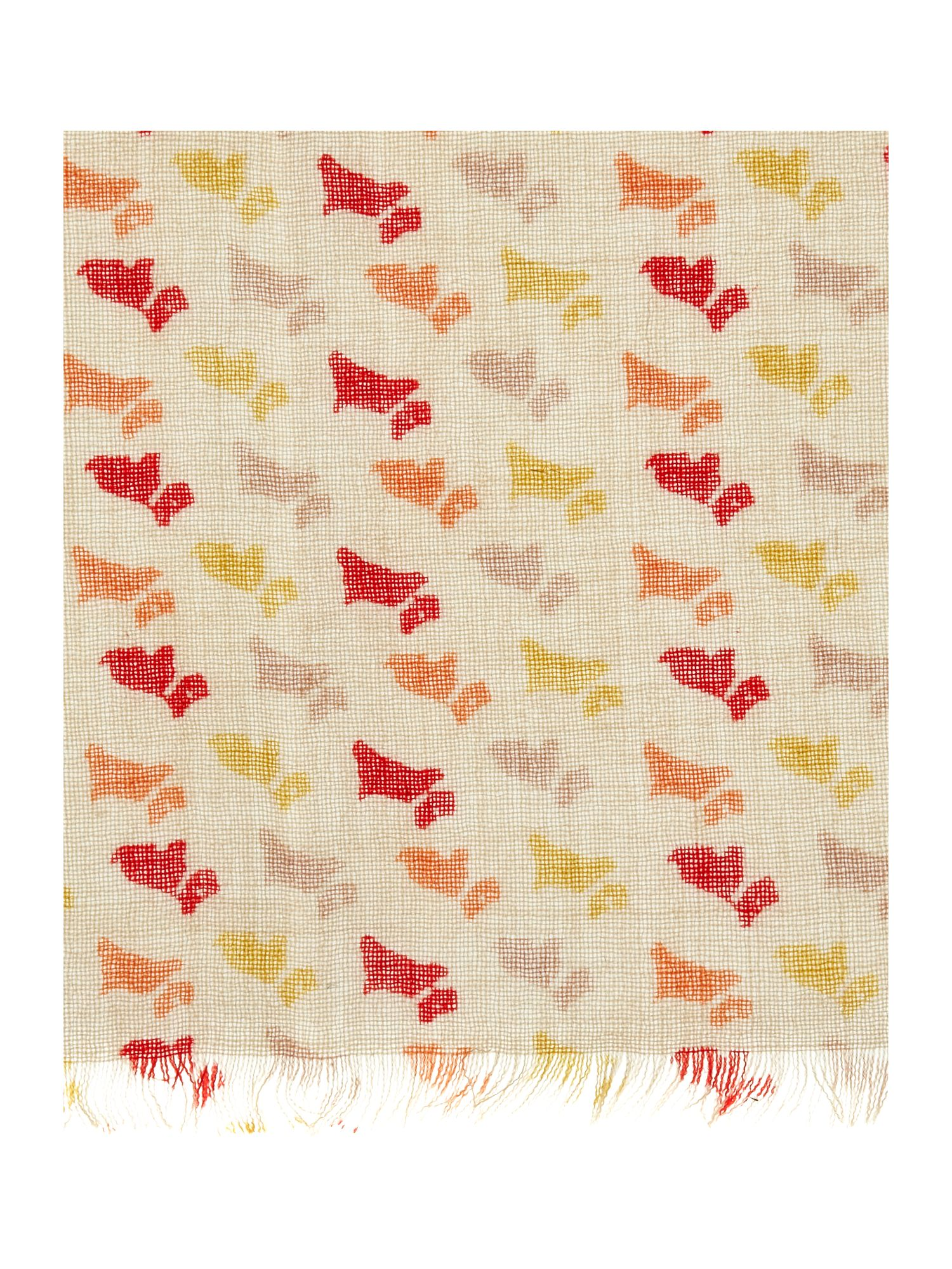Litton dog print scarf