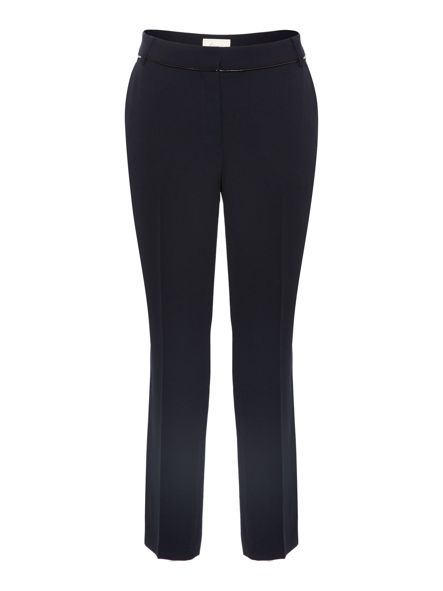 Pu trim slim leg trouser