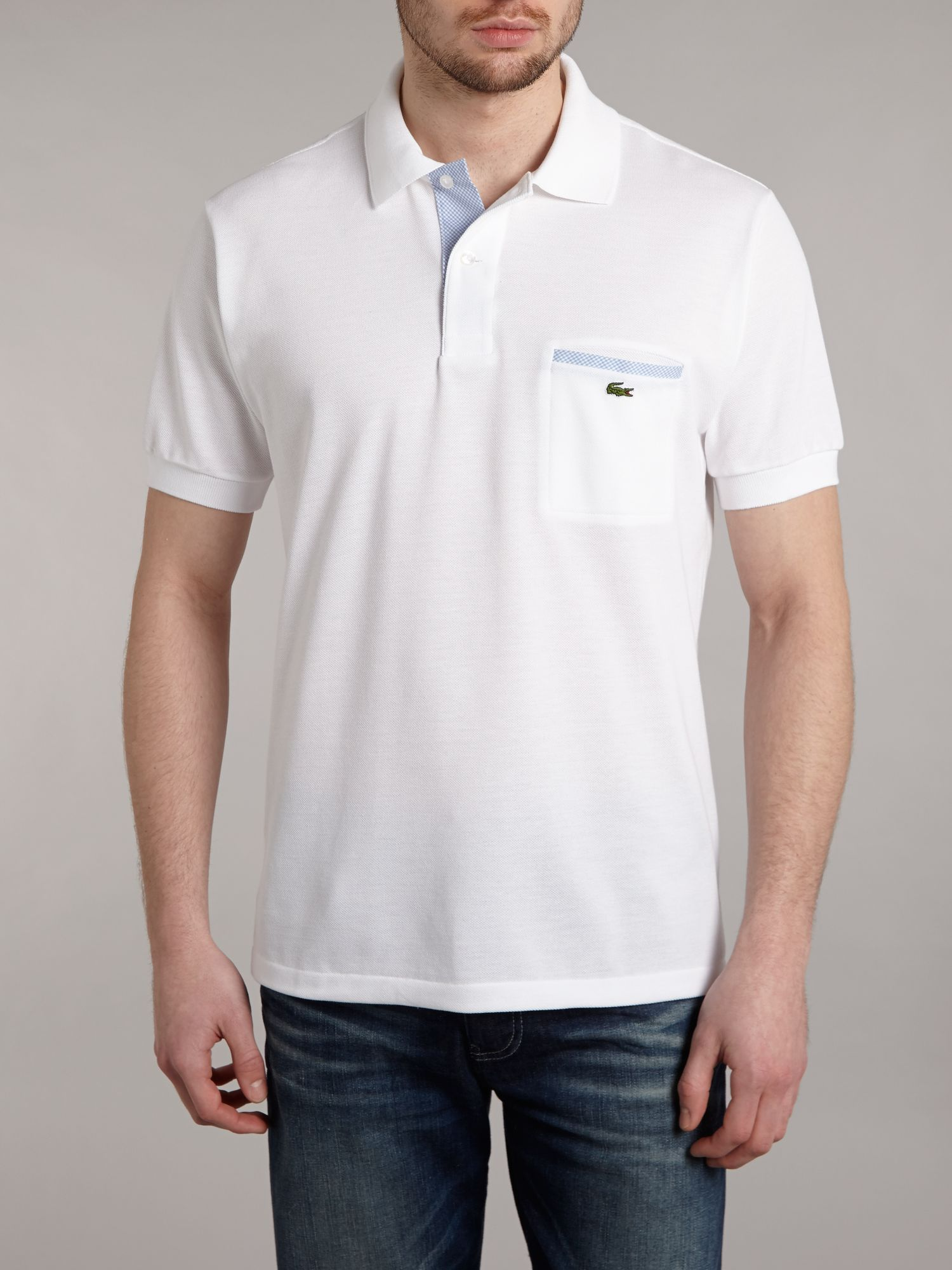 Polo shirt with chest pocket detail