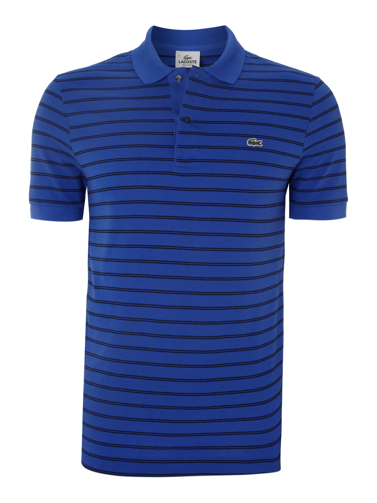 Fine striped polo shirt