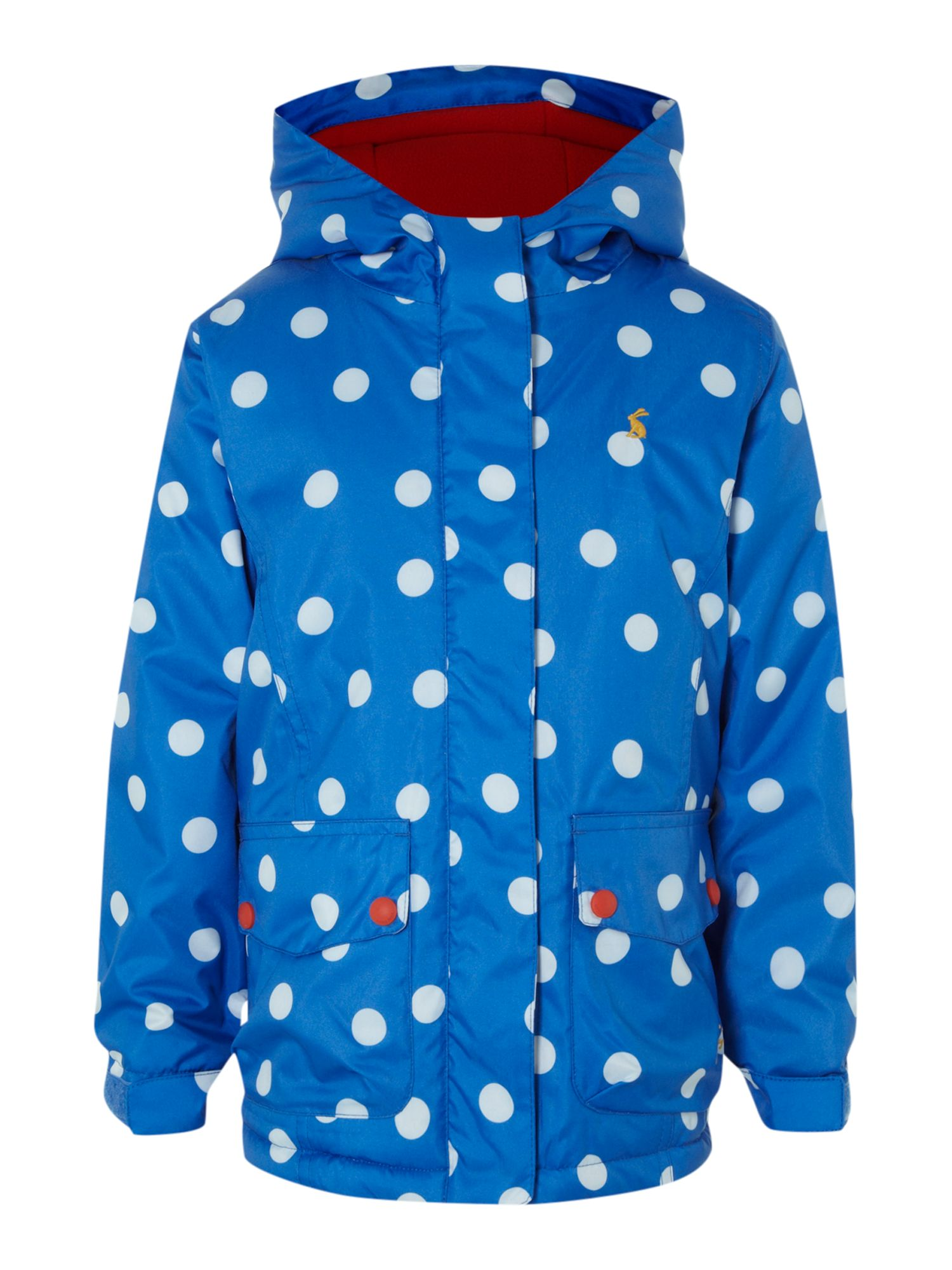 Girl`s spotty waterproof jacket