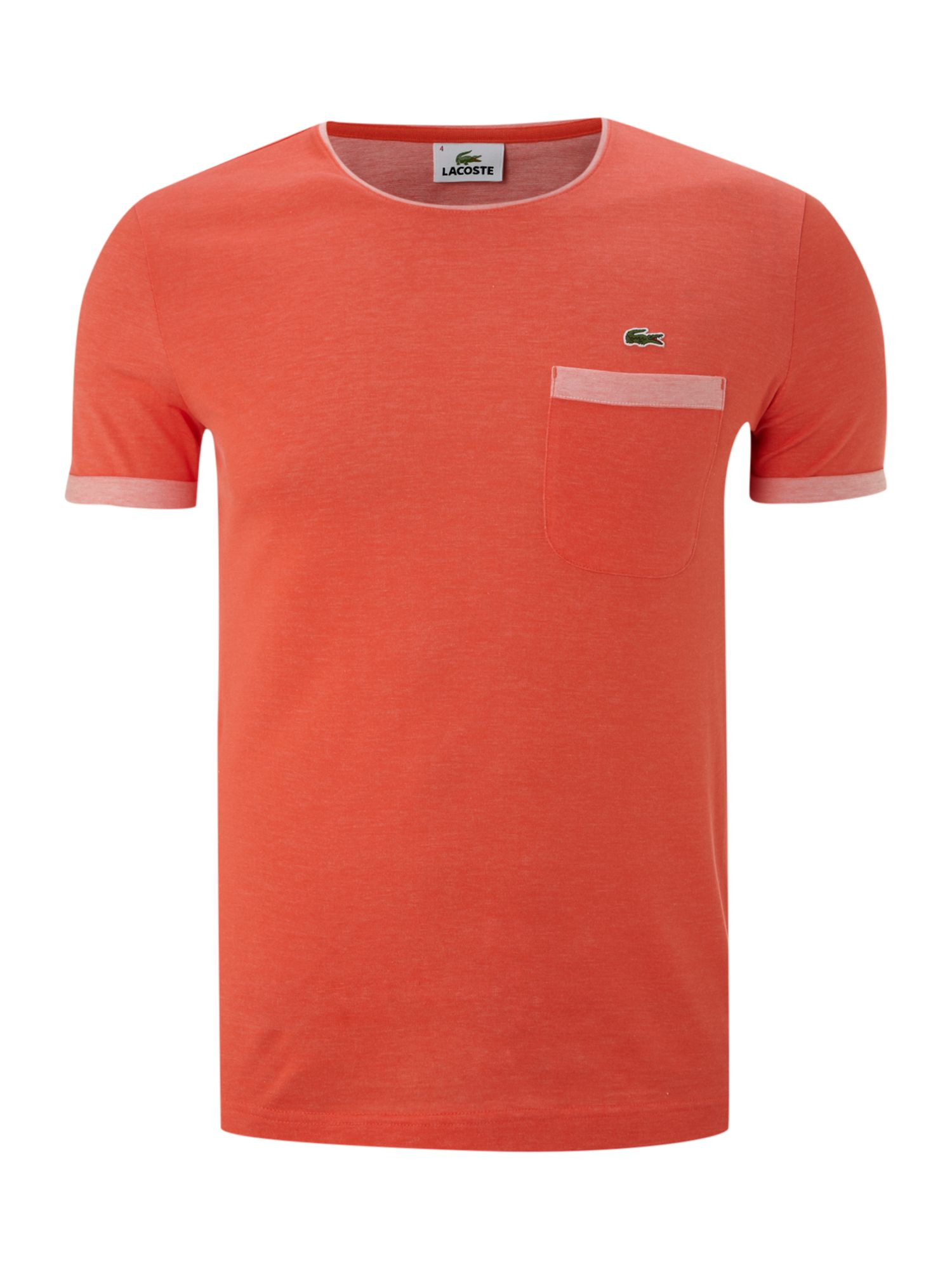 Crew neck T-shirt with chest pocket detail