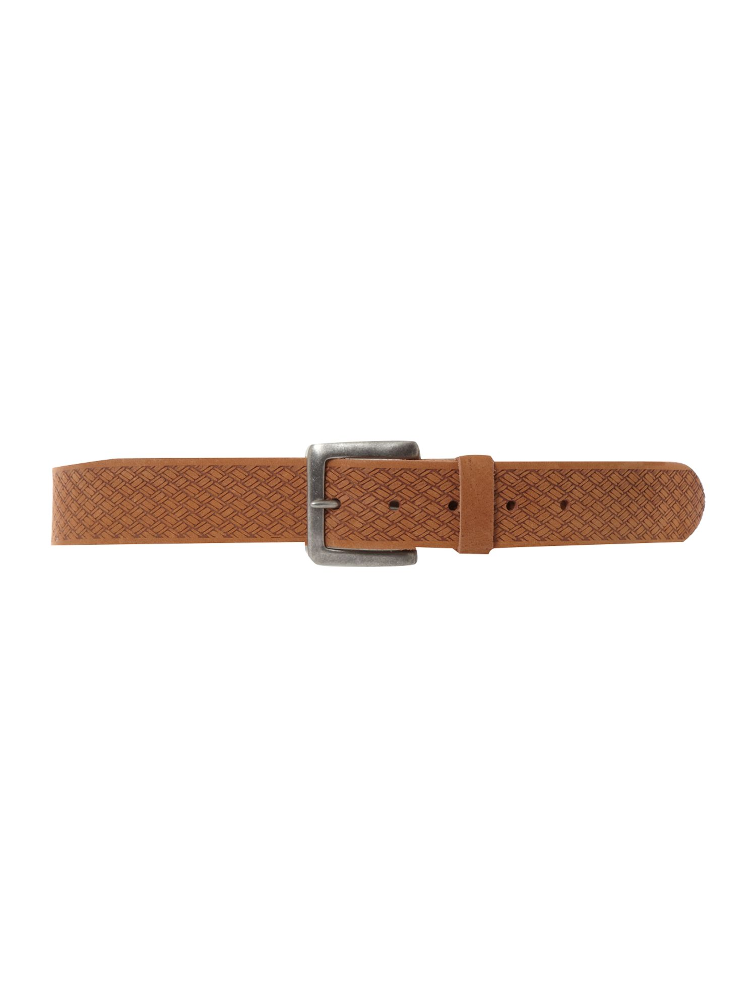 Embossed weave belt