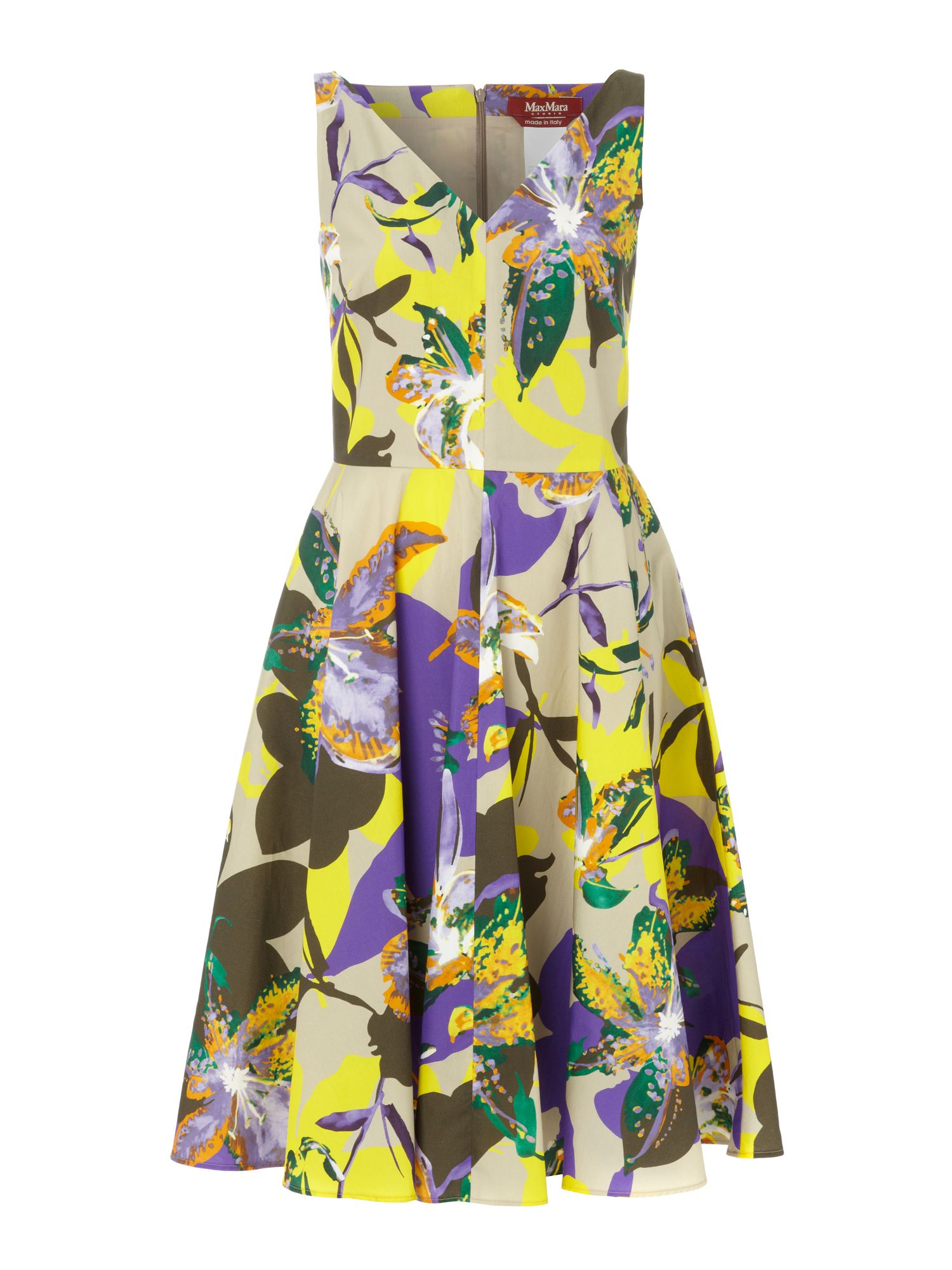 Saggina v-neck floral print shift dress