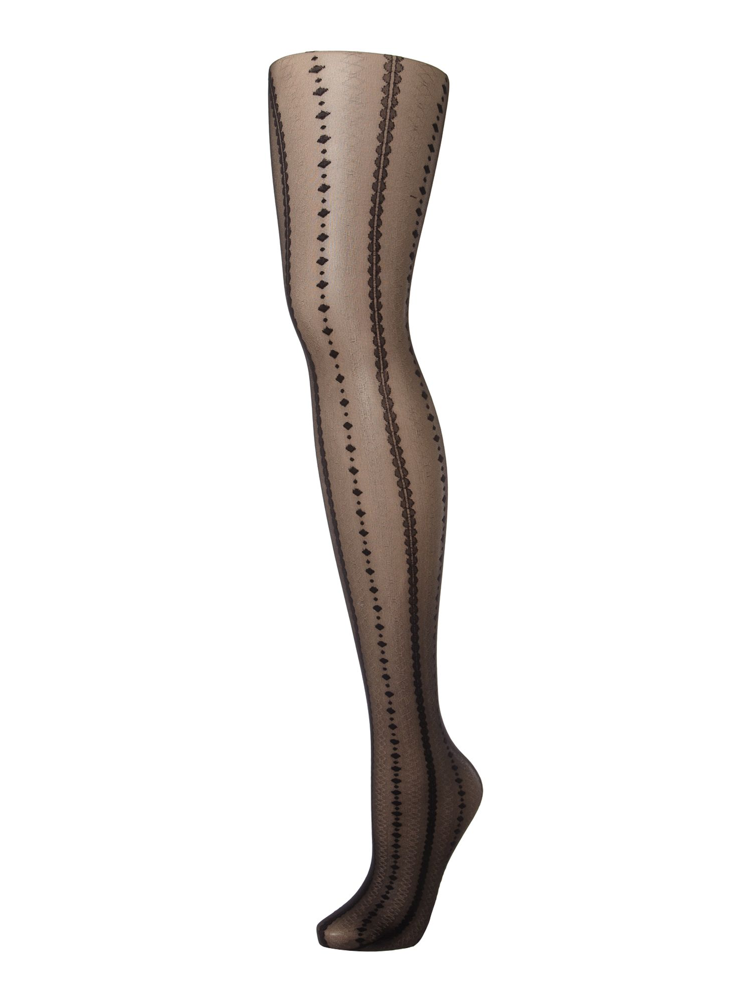 Decorative stripe tights