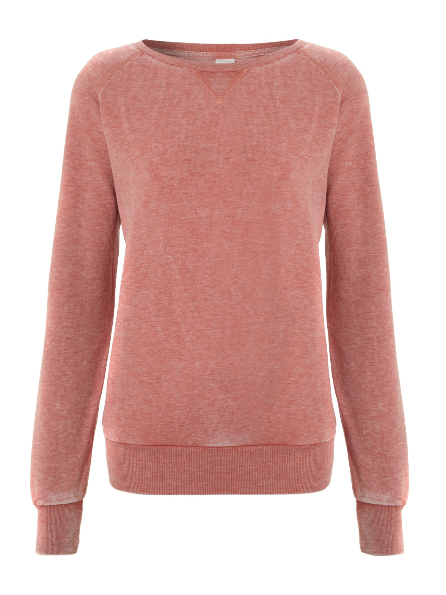 Long sleeve marl sweat top