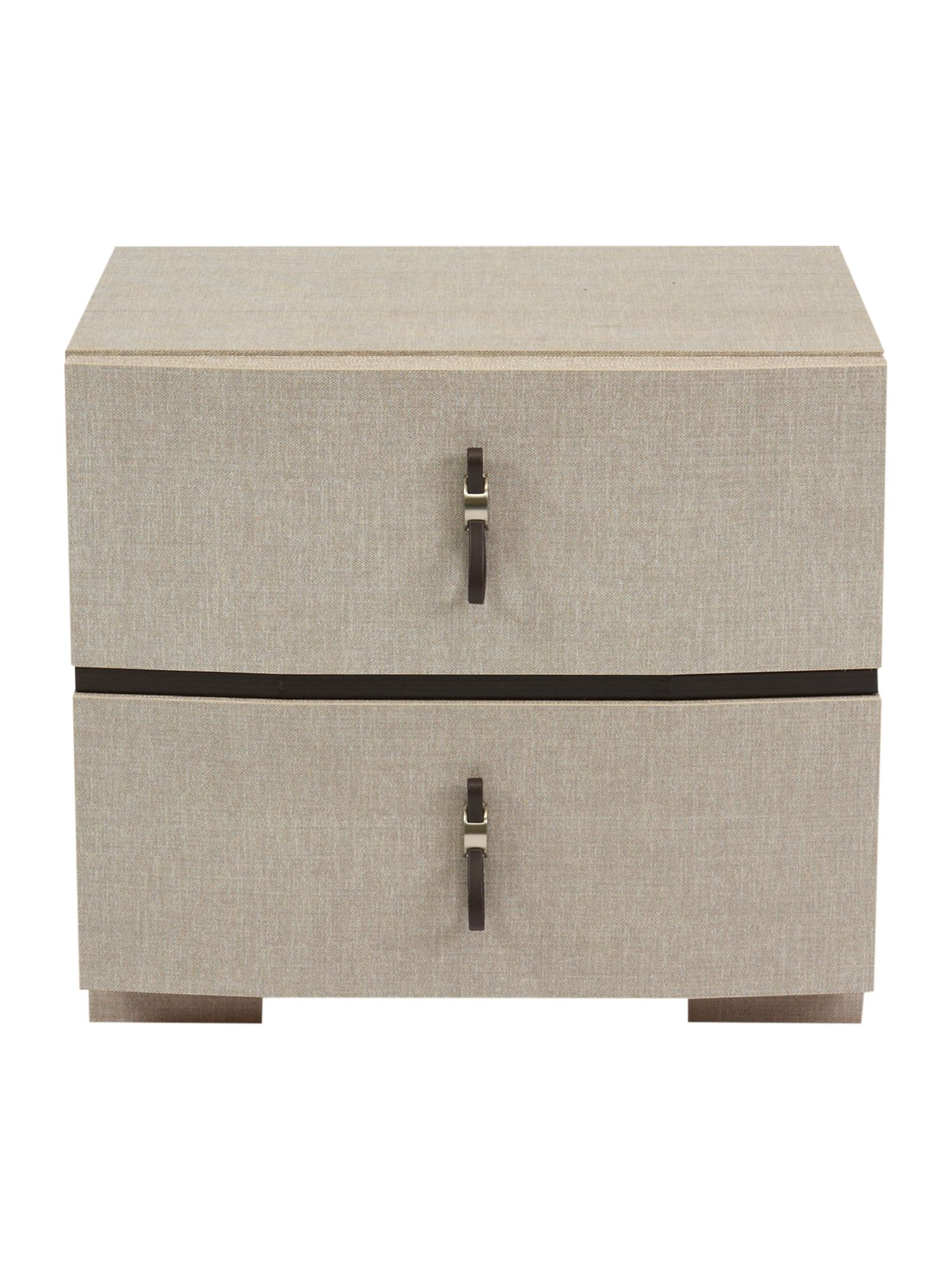 Toscana 2 drawer bedside chest