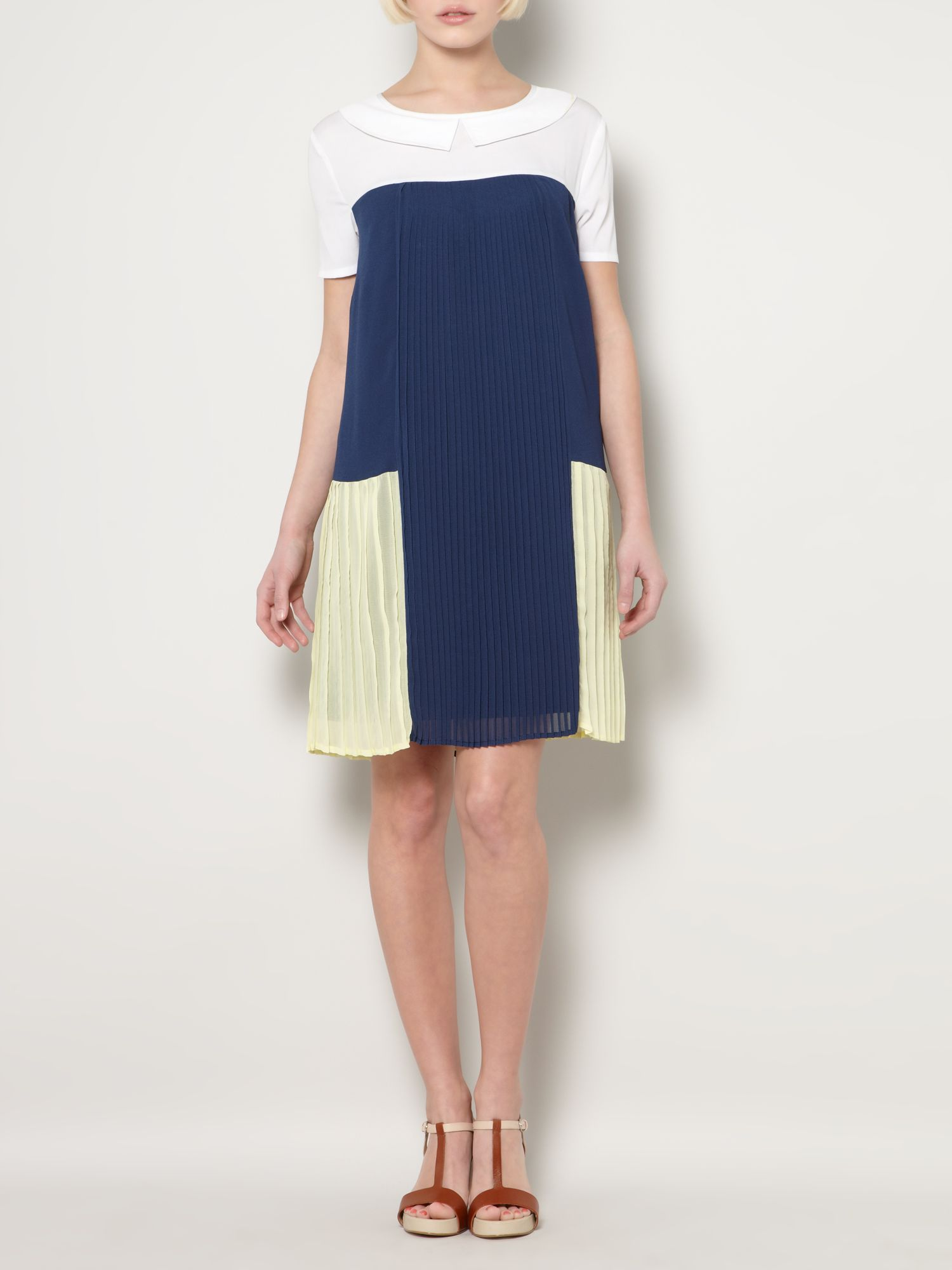 Pleat panel dress