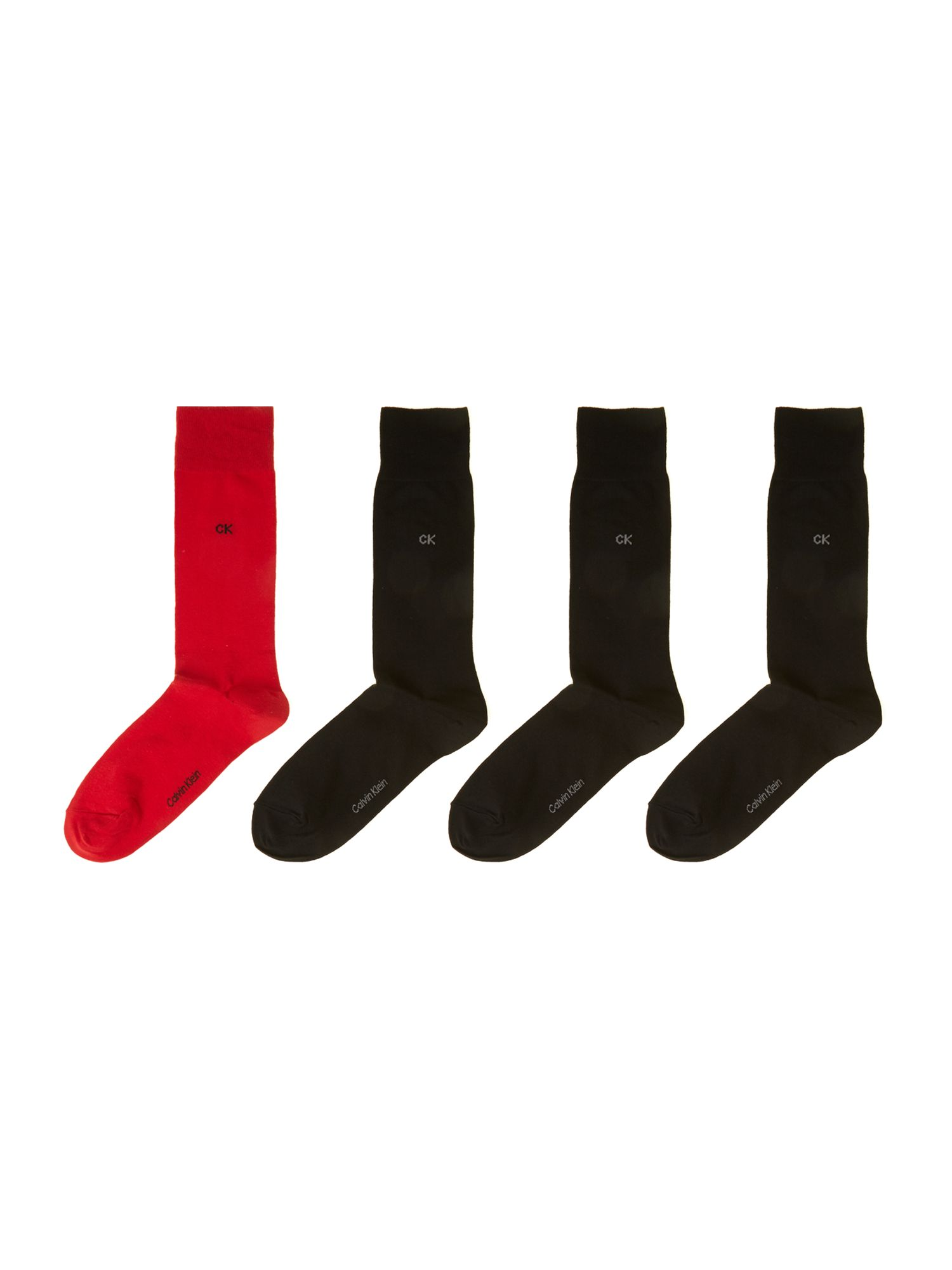 Cotton blend four pack of mens socks