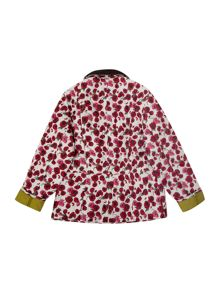 Girl`s poppy print quilted jacket