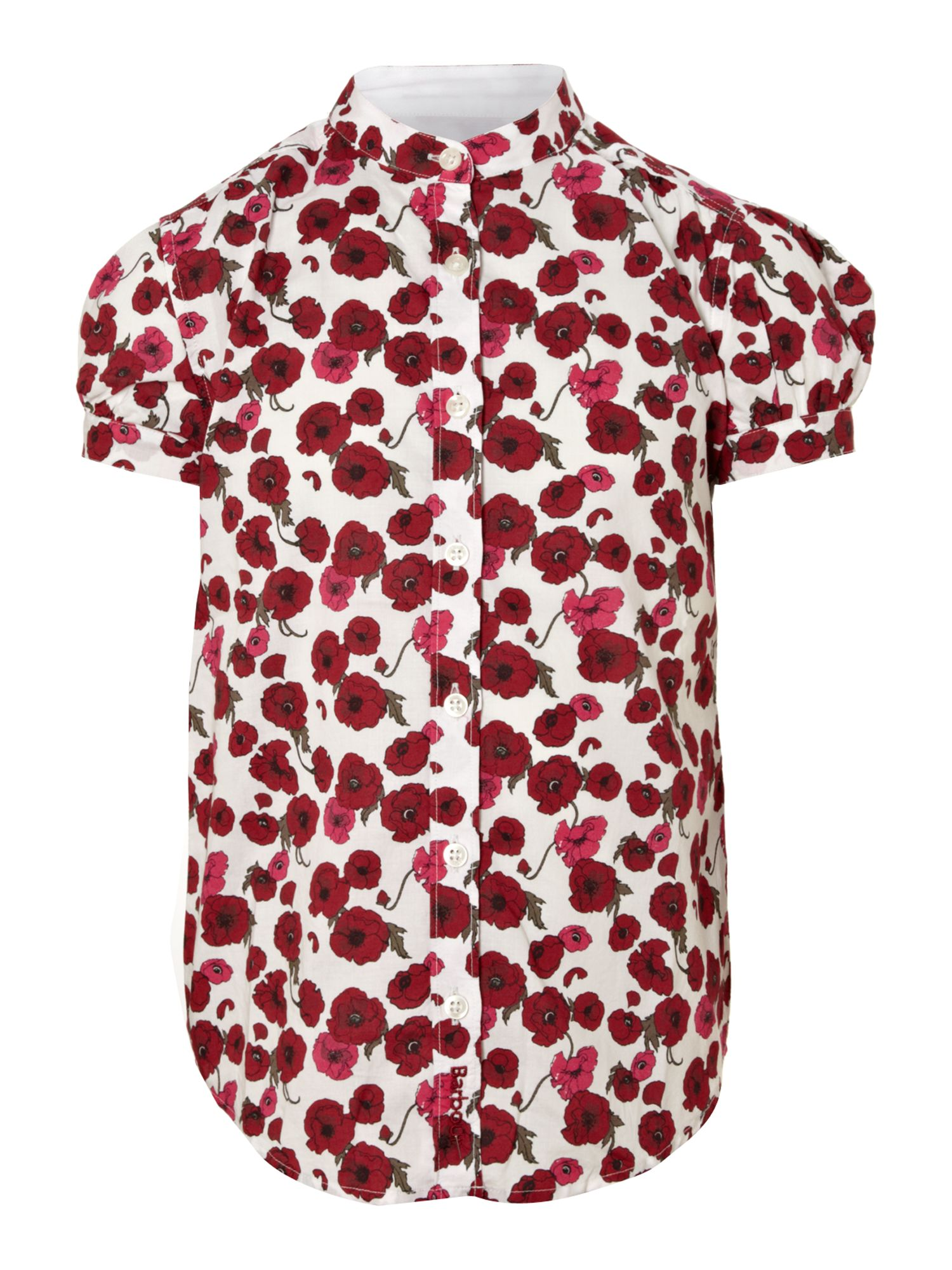 Girl`s poppy printed blouse